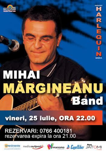 Concert MIHAI MARGINEANU la Harlequin Mamaia