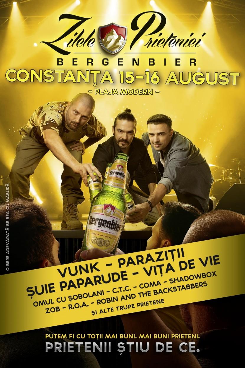 """Festivalul """"Zilele Prieteniei Bergenbier"""" pe 15-16 august"""