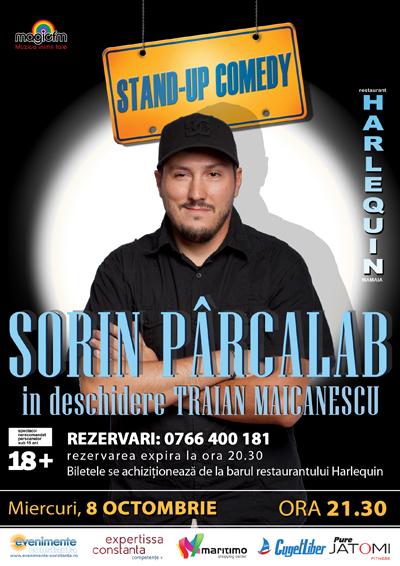 Stand-up comedy cu SORIN Parcalab si TRAIAN Maicanescu la Harlequin