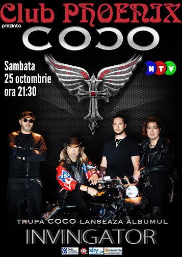 Concert și lansare de album COCO, în club Phoenix