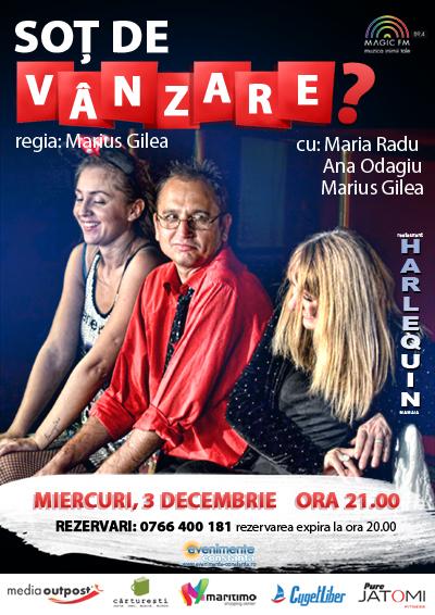 Teatru: SOT DE VANZARE la Harlequin Mamaia