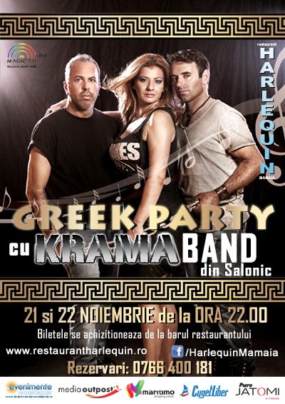 GREEK PARTY la Harlequin Mamaia