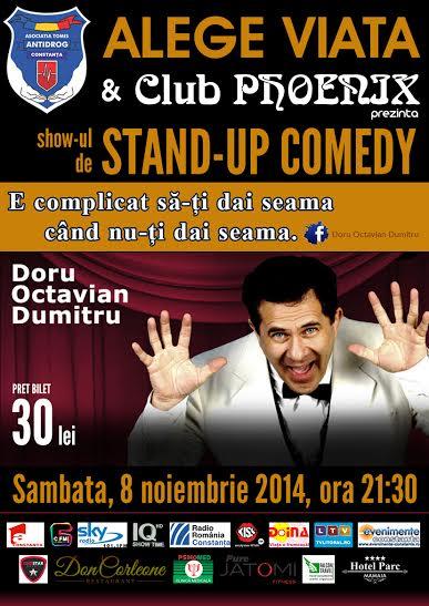 DORU OCTAVIAN DUMITRU, stand-up comedy în club Phoenix