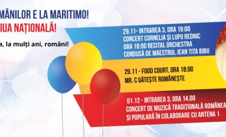 1 DECEMBRIE la Maritimo. Spectacole de muzică tradițională și show-uri culinare!
