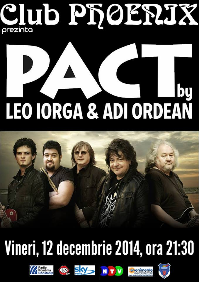 Concert PACT, cu Leo Iorga și Adrian Ordean, în Club Phoenix