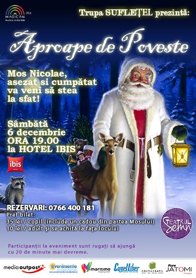 """""""Aproape de poveste"""" cu trupa Sufletel pe 6 decembrie la hotel IBIS"""