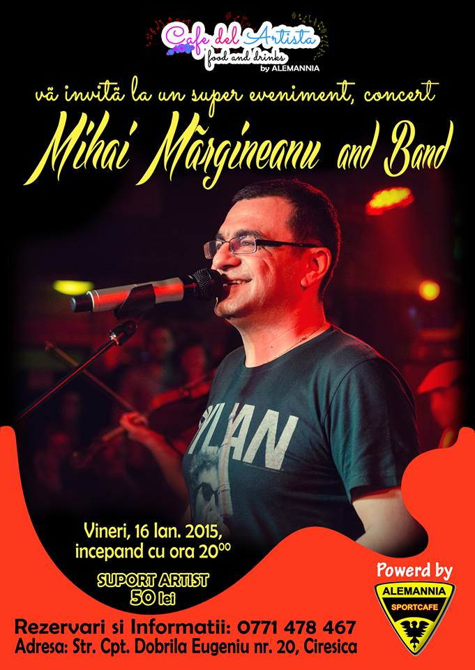 Concert Mihai Margineanu la Alemania