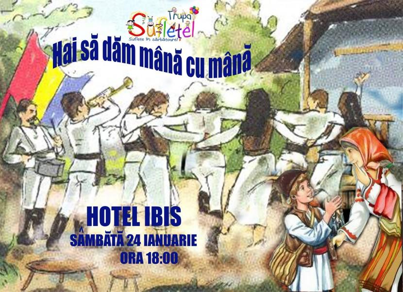 """Spectacol pentru copii: """"Hai sa dam mana cu mana"""" cu Trupa SUFLETEL la Hotel IBIS"""