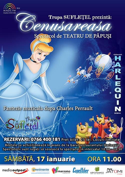 Teatru de papusi: CENUSAREASA la Harlequin