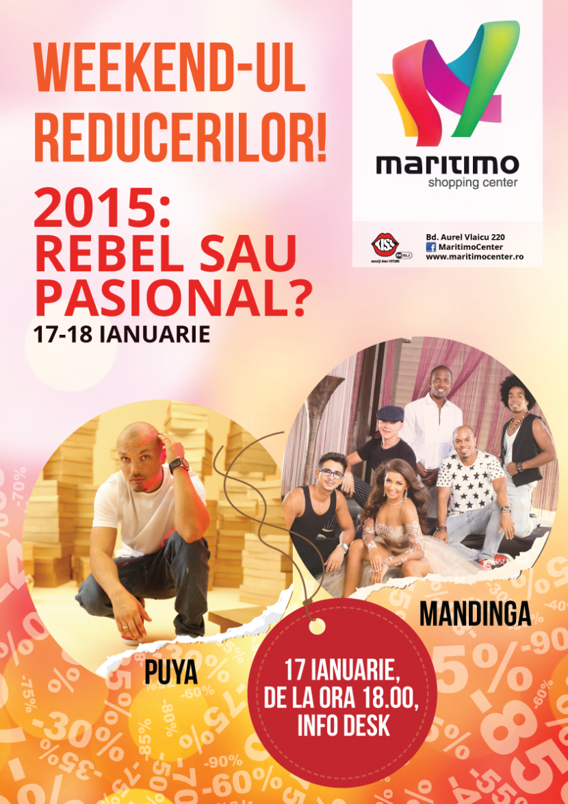 Concert PUYA si MANDINGA la Maritimo in Weekendul Reducerilor