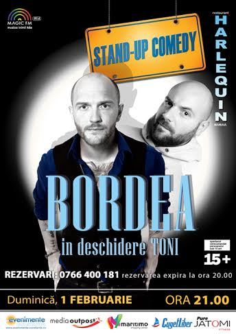 Stand-up comedy cu BORDEA si TONI la Harlequin