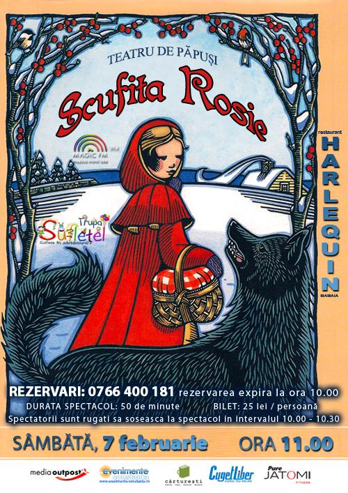 Teatru de papusi: SCUFITA ROSIE cu Trupa SUFLETEL la Harlequin