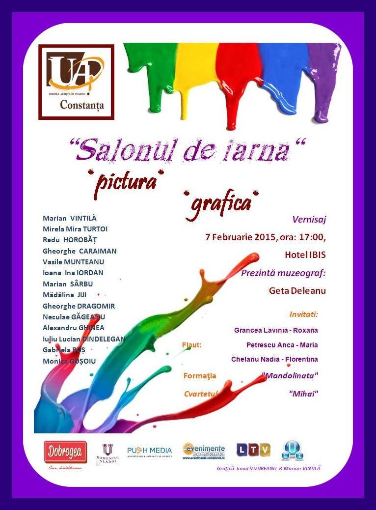 "Expozitiei de pictura si grafica ""Salonul de iarna 2015"" la Hotel IBIS"