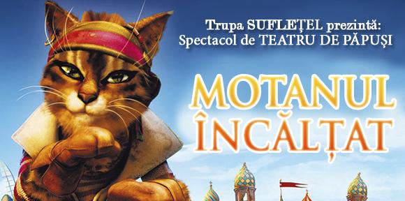 """Teatru de papusi """"MOTANUL INCALTAT"""", cu Trupa Sufletel"""