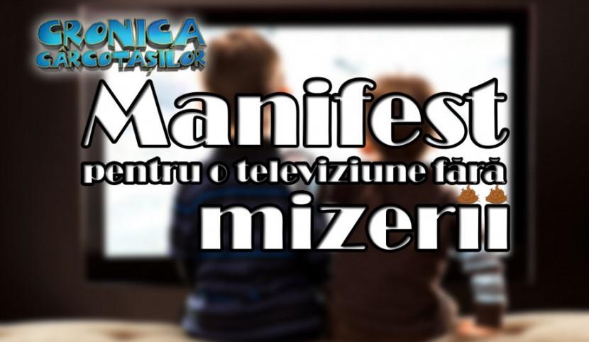 "In fata CNA a fost adusa petitia ""MANIFESTUL pentru o TELEVIZIUNE FARA MIZERII"""