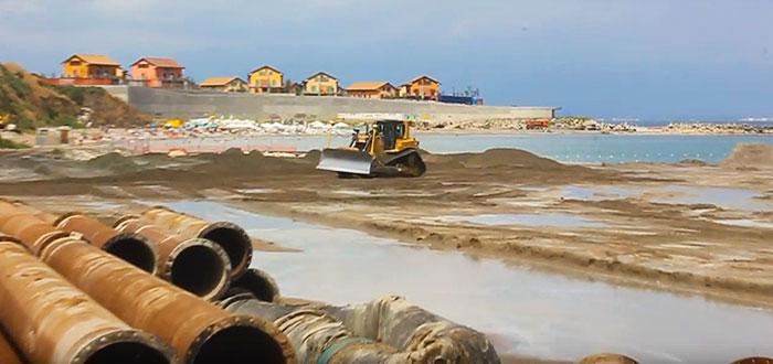 O PLAJA NOUA la Constanta. Cum este construita plaja Tataia! VIDEO