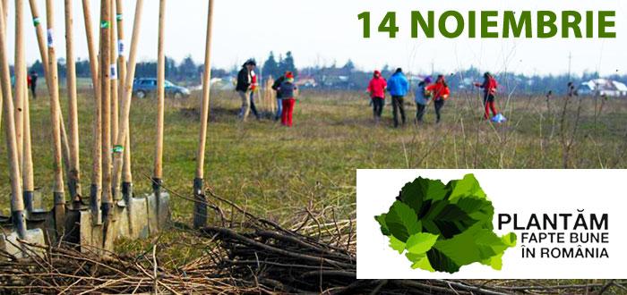Liber la inscrieri. PLANTAM FAPTE BUNE IN ROMANIA. Fii voluntar in cel mai amplu proiect de impadurire!
