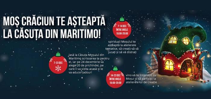 Vino la CASUTA MOSULUI din Maritimo sa il intalnesti pe Mos Craciun!