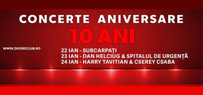 10 ani de DOORS CLUB, trei zile de super-concerte!