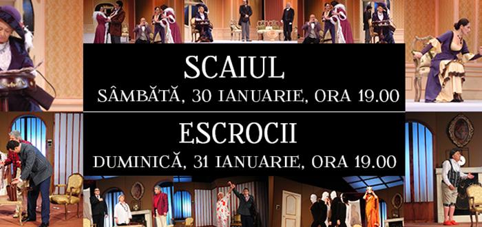 SCAIUL, ESCROCII si lansare de carte la Teatrul de Stat