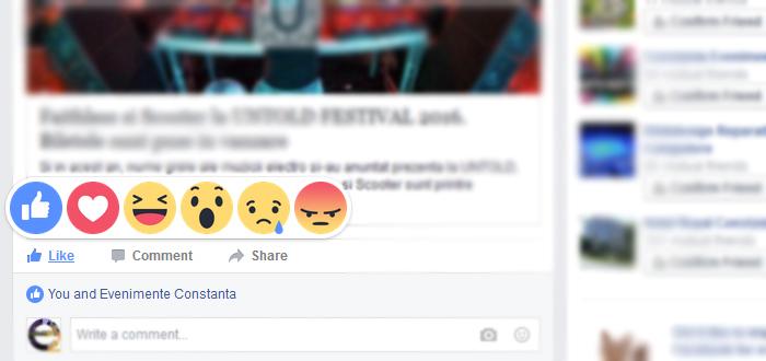 """Schimbare majora pe Facebook. Butonul de LIKE contine """"emotii"""" si """"stari""""!"""