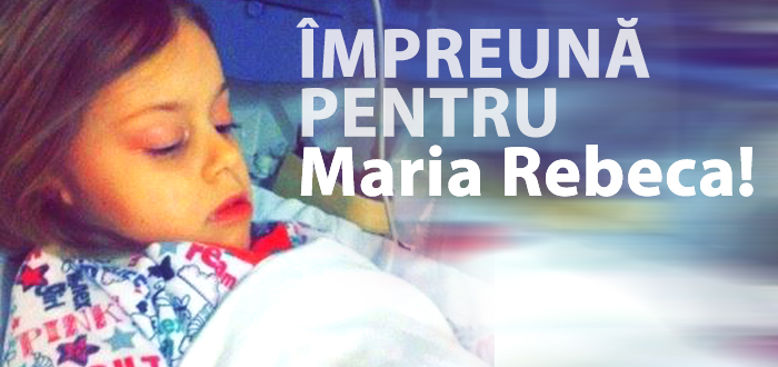 Are doar 4 ani si o tumoare pe creier. Cu 5 lei poti salva viata Mariei Rebeca!