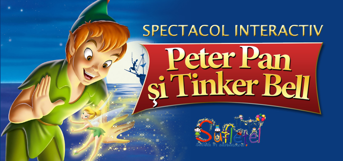Peter Pan şi Tinker Bell. Spectacol pentru cei mici, la Harlequin