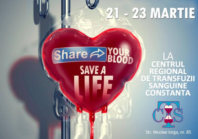 Doneaza sange, salveaza o viata! Campania SHARE YOUR BLOOD, SAVE A LIFE