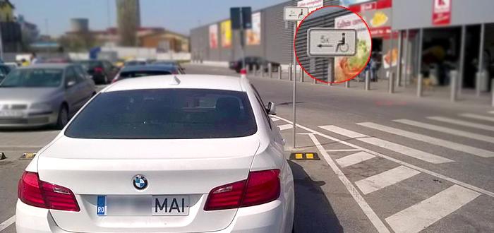 """Cocalar cu numere """"MAI"""" a facut scandal dupa ce a parcat pe un loc rezervat persoanelor cu handicap! VIDEO"""