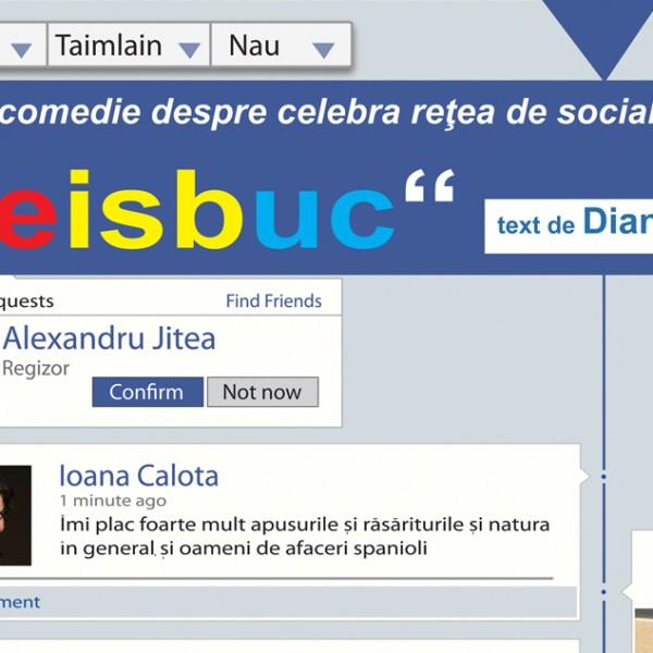 """Ce păţeşti când îţi cauţi iubirea în spaţiul virtual. Comedia """"FEISBUC"""", la Harlequin!"""