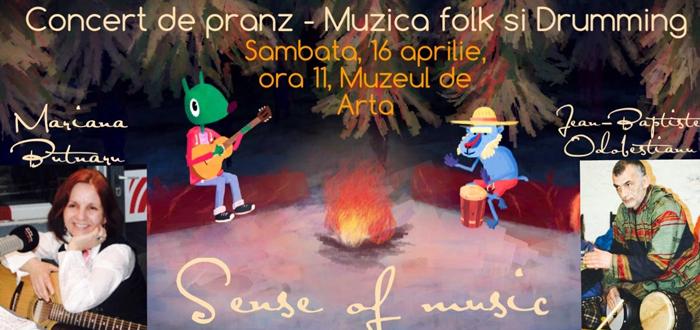 """""""Concert de pranz"""". Folk si percutie traditionala, la Muzeul de Arta"""