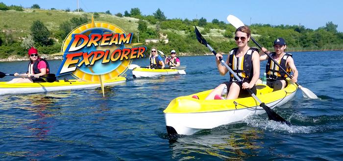 Aventura in CAIAC pe lacul Limanu, cu Dream Explorer