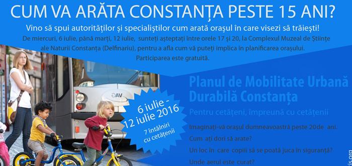 Participa la DIALOGUL CU AUTORITATILE pentru Planul de Mobilitate Urbana Durabila Constanta!
