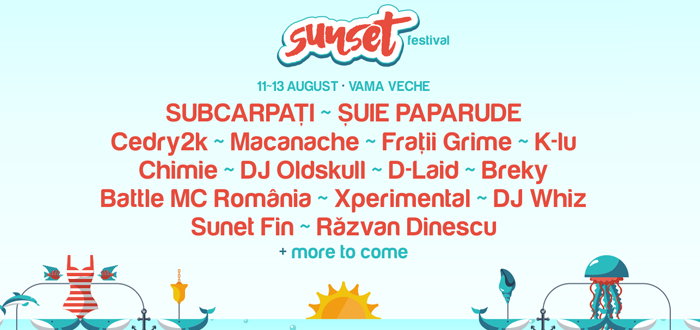 Sunset Festival 2016. Distractie si trupe misto pe plaja din Vama Veche!