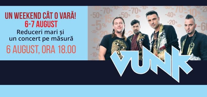 Concert VUNK şi weekend-ul reducerilor la Maritimo!