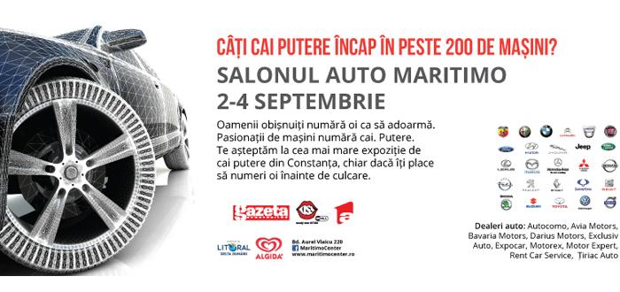 200 de maşini prezente la Salonul Auto Maritimo 2016!