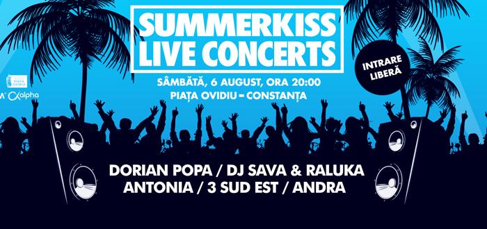 ANDRA, 3 SUD EST şi ANTONIA cântă live la SummerKiss în Piaţa Ovidiu