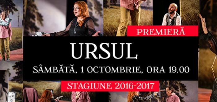 """""""URSUL"""", la Teatrul de Stat Constanţa"""