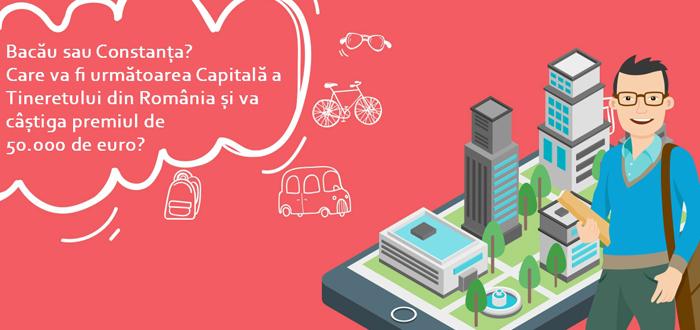 Constanţa şi Bacău, oficial în cursa pentru titlul de Capitala Tineretului din România
