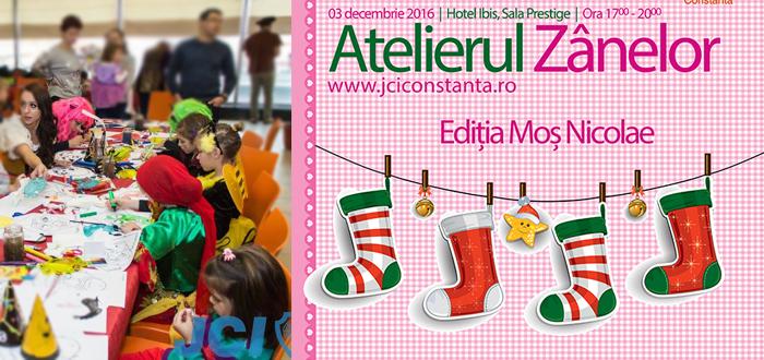 Moş Nicolae vine la ATELIERUL ZÂNELOR! Eveniment cu scop caritabil pentru cei mici