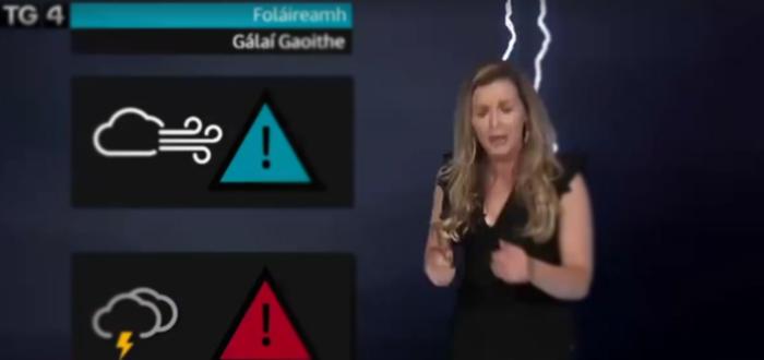 VIDEO. Prezentatoare meteo lovită de fulger! Farsă demenţială de Halloween