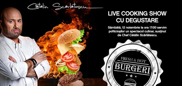 LIVE COOKING SHOW cu Chef Cătălin Scărlătescu, la City Park Mall