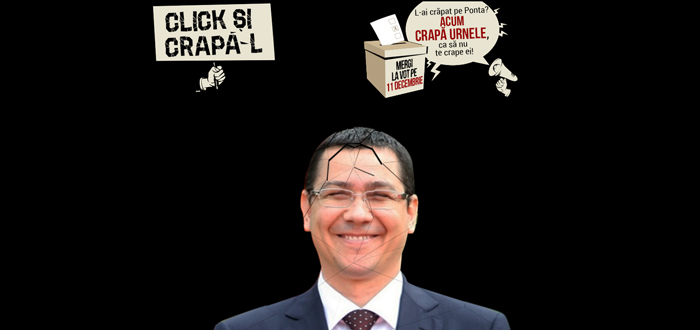 CLICK ŞI CRAPĂ-L! A apărut un site pentru cei care vor să-l crape pe Ponta