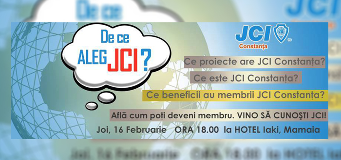 JCI CONSTANŢA îşi măreşte echipa! Vino să-i cunoşti dacă vrei să faci voluntariat într-un ONG internaţional