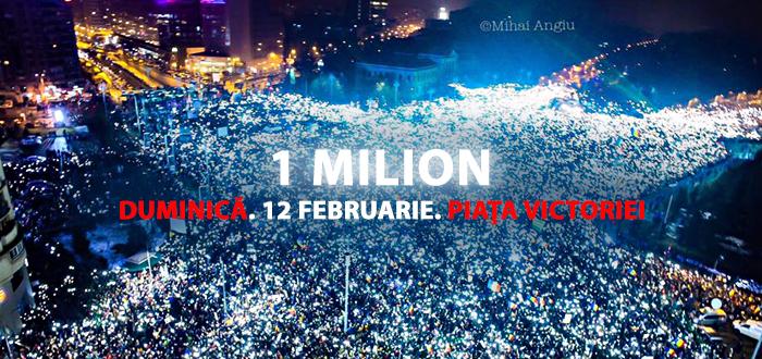 Peste 1 MILION de oameni sunt aşteptaţi duminică, în Piața Victoriei! Protestele continuă şi la Constanţa