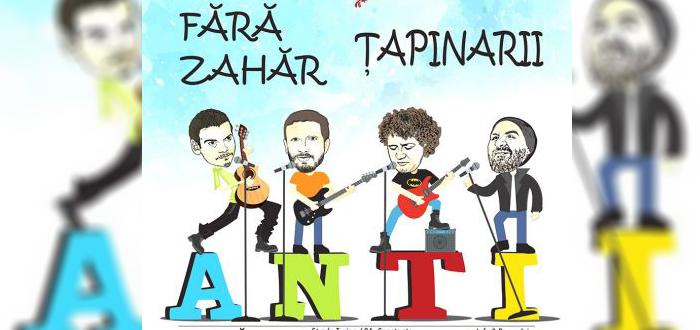 Concert ANTI-VALENTINE'S DAY, cu FĂRĂ ZAHĂR şi ŢAPINARII