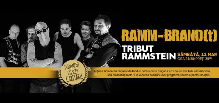 Concert CARITABIL. Tribut RAMMSTEIN, cu RAMM-BRAND(T)