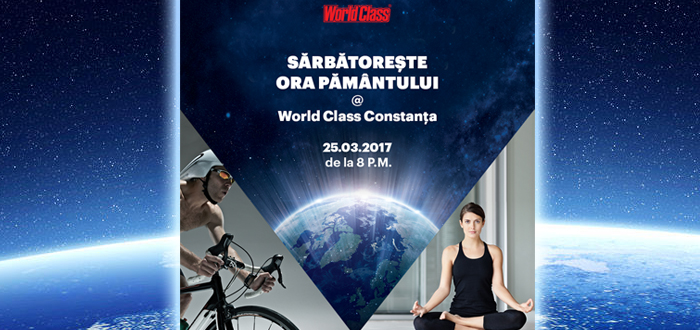 Sărbătoreşte ORA PĂMÂNTULUI la World Class Constanţa. Clase de Cycling şi Yoga!