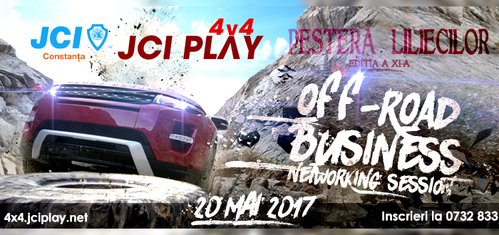 JCI PLAY 4×4 revine! OFF-ROAD Business Networking la Peştera Liliecilor