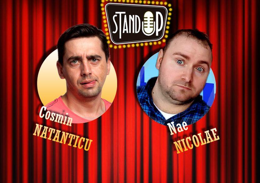 Stand-up comedy: Natanticu și Nae Nicolae, la Harlequin